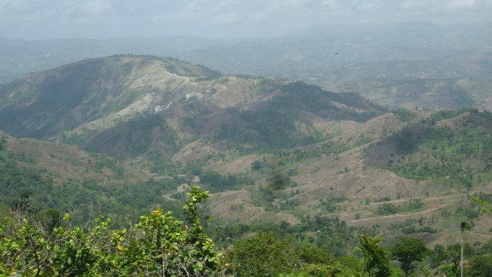 Haiti is 98% deforested as is portrayed here.