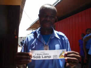 After having finished the initial course, participants received a coupon for a solar light, but delivery will have to wait.