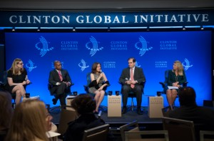 Andrea speaking at the Clinton Global Initiative