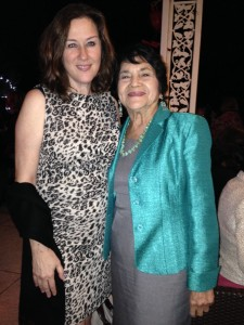 Andrea with Dolores Huerta, labor leader, civil rights activist and co-founder of the United Farm Workers.